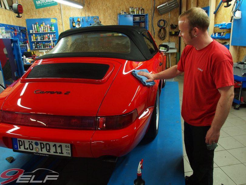 Porsche 964 Reparatur, Porsche 964 Lackaufbereitung